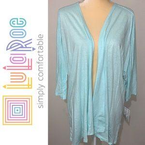 LuLaRoe Sweaters - LuLaRoe Lindsay High Low Cardigan Sz L
